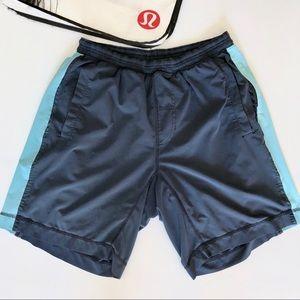 Lululemon blue running shorts